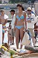 selena gomez blue bikini beach 11