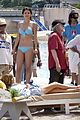 selena gomez blue bikini beach 15