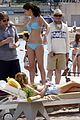 selena gomez blue bikini beach 17