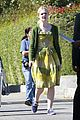 elle fanning green dress low down 04