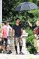 taylor lautner bike riding for tracers filming in nyc 09