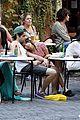 penn badgley zoe kravitz kisses in rome 06