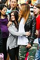 ariel winter makes a furry friend at the farmers market 20