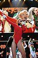 miley cyrus santa body suit at atlanta jingle ball 21