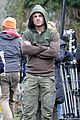 stephen amell dons wig arrow filming 07