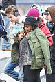 amber riley chord overstreet coat offer glee 04