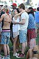 emma roberts and evan peters show some pda at coachella09