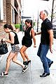 lea michele flashes her lacy white bra while shopping with her mom 10