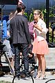 grant gustin emily bett rickards flash arrow crossover filming 23