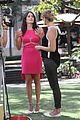 karla souza grove interview hot pink dress 03