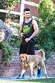 spencer boldman dog jack walk la 04