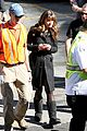 lea michele has father daughter moment on glee set 16