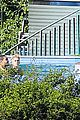 justin bieber goes shirtless at beverly hills mansion 04