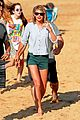 taylor swifts belly button baring beach day new bikini pics 09