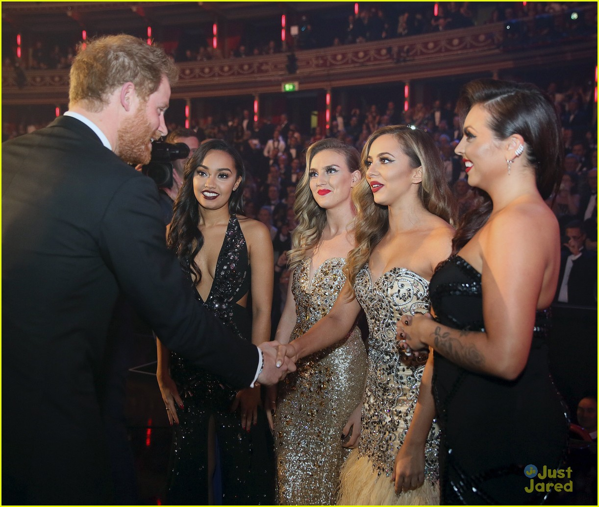 One Direction Little Mix Meet Prince Harry At Royal Variety