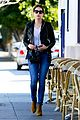 ashley benson lunch los angeles leather jacket 07