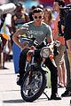 zac efron films baywatch on motorcycle 33