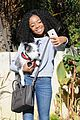 skai jackson selfie game dog walk 04