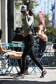 kendall jenner hailey baldwin hang out gym after img news 07