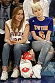 miley cyrus knicks game brandi courtside 06