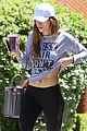 bella thorne messy hair shirt workout signs caa 07