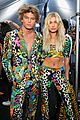 hailey baldwin jordan barrett match at moschino show 02