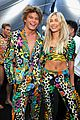 hailey baldwin jordan barrett match at moschino show 12