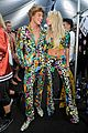 hailey baldwin jordan barrett match at moschino show 13