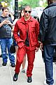 nick jonas red suit aol build appearance 11