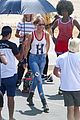 gigi hadid bares her long legs in a one piece swimsuit 29