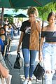 kendall jenner hailey baldwin hit up hollywood pool party 19