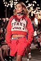 hailey baldwin taylor hill chanel iman tommy hilfiger nyfw show 02