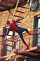 tom holland performs his own spider man stunts on nyc fire escape 19