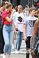 justin bieber runs into patrick schwarzenegger in new york 05