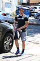 nick jonas shows off his buff arm muscles after a workout 01