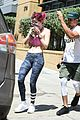 bella thorne fitness session pink bra 14