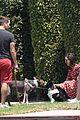nina dobrev walks her dog maverick 03
