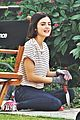 lucy hale rides a vespa and does some gardening on life sentence set 02