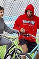 justin bieber selena gomez bike ride together 48