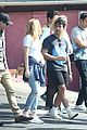 joe jonas and fiancee sophie turner chat with friends after their workout 03
