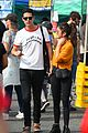 sarah hyland and wells adams share sweet kiss at the farmers market 15