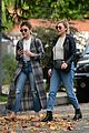 lucy hale looks chic in long checked coat while out to lunch 09