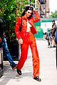 kendall jenner rocks all red for lunch in nyc 06