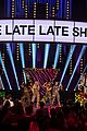 little mix invade james corden desk while performing on late late show 02