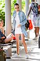 bella hadid shows off her legs white dress st barts 06