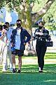 pregnant sophie turner at park with joe jonas family 74