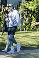 kaia gerber jacob elordi take her dog for a walk 01