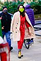 selena gomez neon green face mask only murders set 05