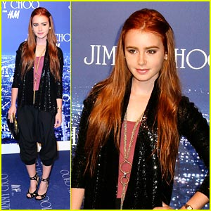 Lily Collins is Jimmy Choo Charming