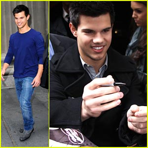 Taylor Lautner is Having The Time of His Life